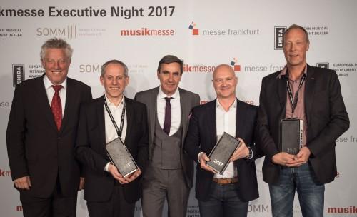 Konrad Müller-Bremeyer receives the Emida Award 2017 at Musikmesse Frankfurt