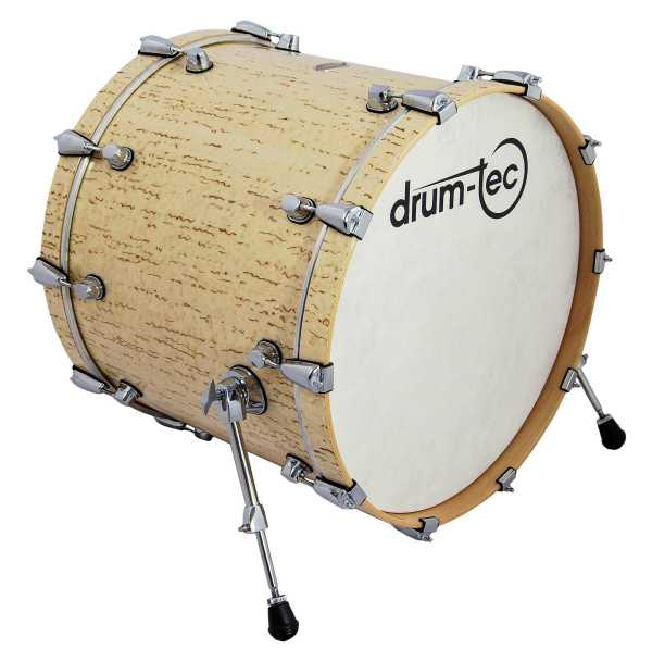 "drum-tec pro-s Bass Drum 22"" x 18"" (ice birch)"