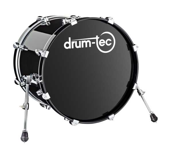 "drum-tec pro Bass Drum 20"" x 16"" (black)"