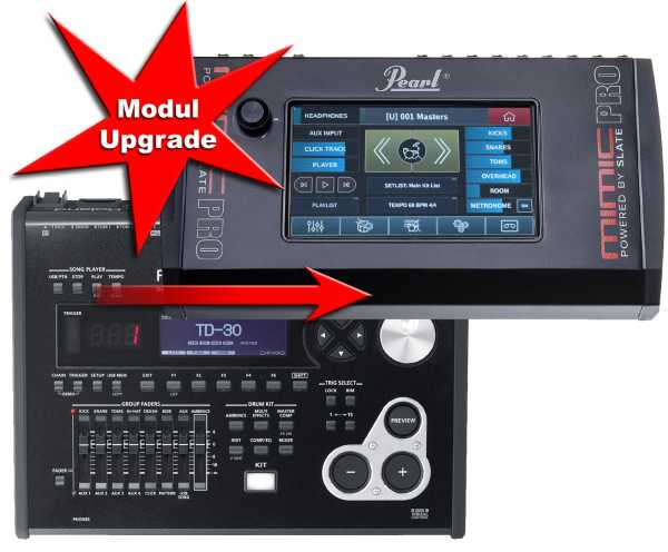 Modul Upgrade Roland TD-30 zu Pearl Mimic Pro