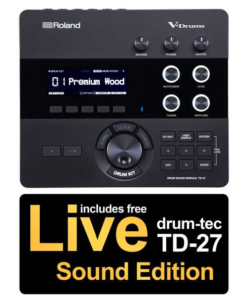 Roland TD-27 Modul inkl. Live Sound Edition