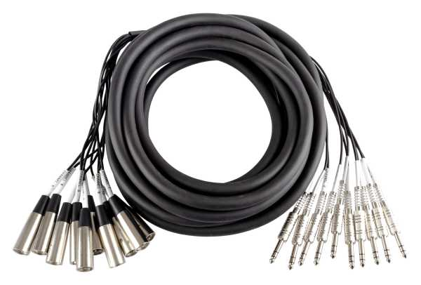 drum-tec MC-10-8B Multicore XLR-Klinke