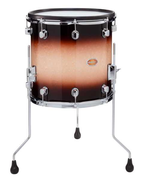 "drum-tec pro-s Floor Tom 14"" x 14"" (brown fade)"