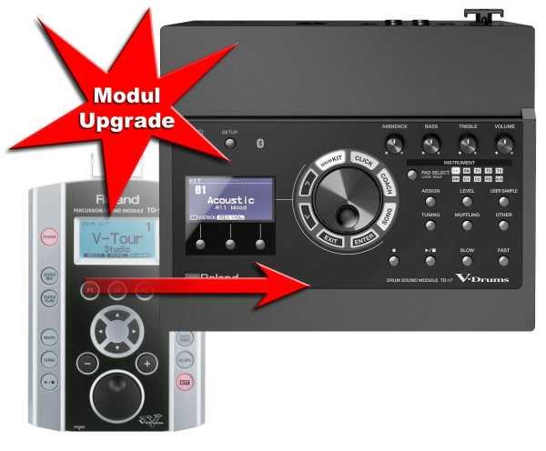 Modul Upgrade Roland TD-9 zu TD-17