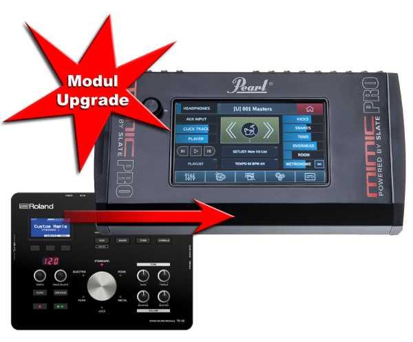Modul Upgrade Roland TD-25 zu Pearl Mimic Pro