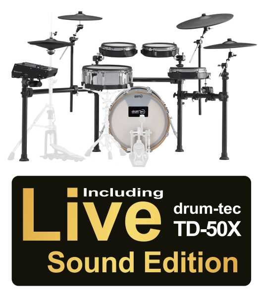 Roland TD-50K2 drum-tec Edition Real Feel inkl.