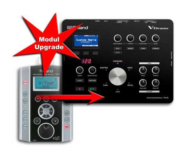 Modul Upgrade Roland TD-9 zu Roland TD-25