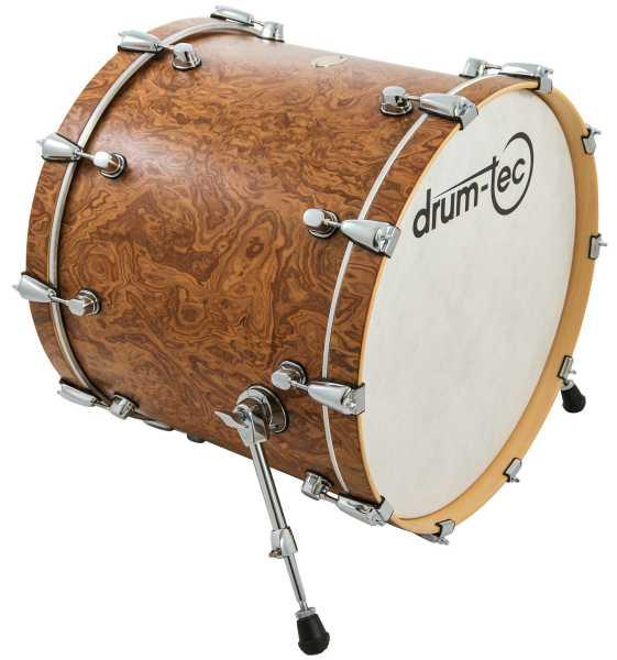 """drum-tec pro-s Bass Drum 22"""" x 18"""" (walnut roots)"""