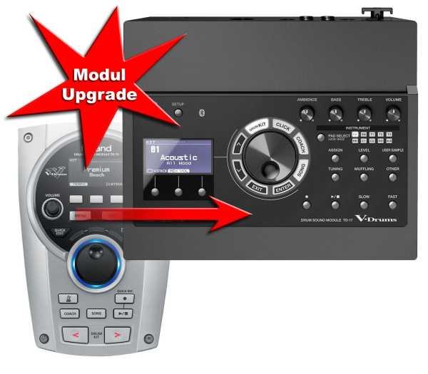 Modul Upgrade Roland TD-15 zu TD-17