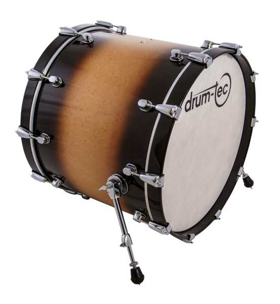 "drum-tec pro-s Bass Drum 22"" x 18"" (brown fade)"